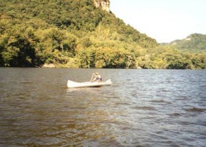 Canoe on Lake Pepin